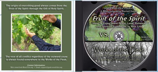 Fruit of the Spirit Vs. Works of the Flesh Audio Bible Study CD from Daniel Sweet