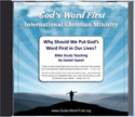Why Put God's Word First in Your Life Audio CD