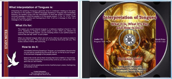 Interpretation of Tongues: A look inside the Audio CD case and insert